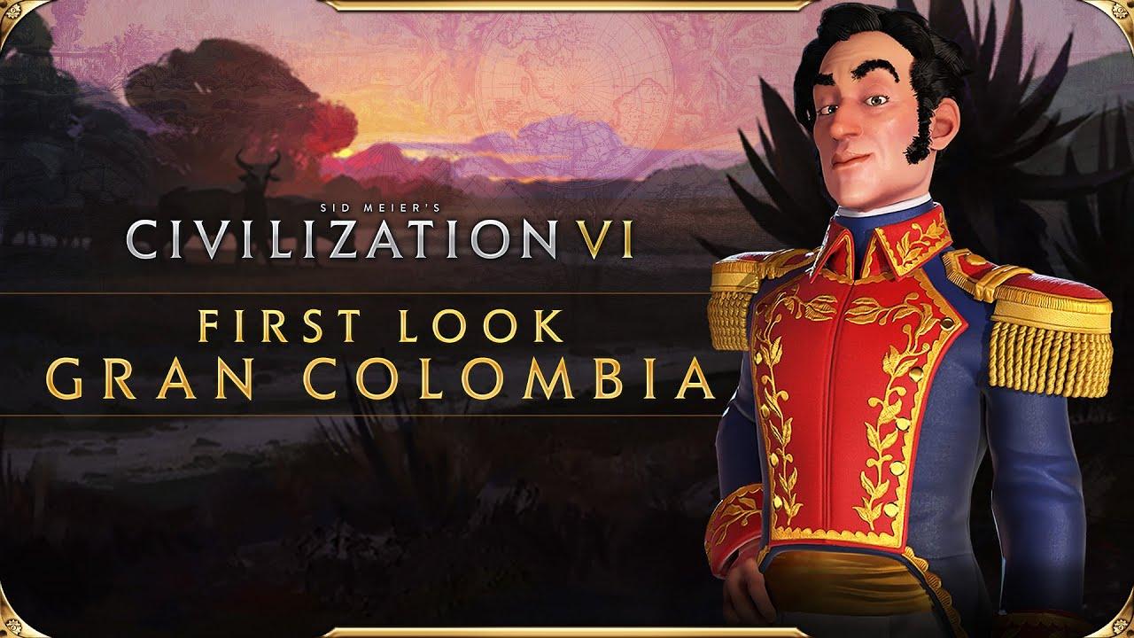 تماشا کنید: نخستین نگاه به تمدن کلمبیای بزرگ در Civilization VI به رهبری Simón Bolívar