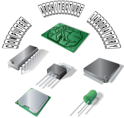 کاملترین مجموعه ی آزمایشات و گزارش کارهای درس آزمایشگاه معماری کامپیوتری شامل موارد زیر میباشد:  -آشنایی با ثبات ها و اتصال آنها به پردازنده  ذخیره پاسخ در AC (اکومولاتور)  کار با آی سی 74193 - طراحی شمارندة بالا شمار 0 تا 15 - طراحی شمارندة پائین شمار 15 تا0 - طراحی شمارندة بالا شمار - پائین شمار بصورت باینری 4 بیتی (0 تا 15 و 15 تا0) - طراحی شمارندة BCD بالا شمار ( 0 تا 9) - طراحی شمارندة 4 تا 13   ایجاد ROM 16 بیتی  انجام عملیات منطقی و مقایسه دو عدد با استفاده از تراشه 74181  انجام عملیات محاسباتی با استفاده از تراشه 74181  اتصال ثبات ها توسط مسیر عمومی (BUS)  تولید مسیر عمومی (BUS) با استفاده از مالتی پلکسر  شمارنده به وسيله فليپ فلاپ JK  طراحی شمارنده 8 بیتی  خواندن و نوشتن در حافظه با استفاده از تراشه ی 6116  طراحی پردازنده برای انجام عملیات محاسباتی و منطقی  آيسي شمارند ه ی برنامه پذیر 74193  مبدل ديجيتال به آنالوگ  مبدل سيگنال آنالوگ به ديجيتال  شمارنده 4 بيتي با استفاده از وقفه ي تايمر  بررسی ورودی و خروجی رجیستر و نمایش آن برروی LED  ایجاد ALU و عمل هحاسباتی روی 2 عدد  اضافه کردن اکومولاتور انجام عمل محاسباتی روی دو عدد  شرح کار ALU  بررسی عمل خواندن و نوشتن رجیستر  طراحی جمع کننده چهار بیتی  جمع کردن دو عدد قرار گرفته شده در IC های 74374  قرار دادن یک عدد در AC ( اکومولاتور ) و جمع آن با عدد ورودی  طراحی یک شمارنده 8 بیتی با دو 4 بیتی  ساخت EPROM 16 بیتی با دو EPROM 8 بیتی   برنامه ریزی EEPROM 2816 بوسیله ی کامپیوتر توسط دستگاه پروگرمر میکروکنترلر   -ویژگی های دستگاه پروگرمر میکروکنترلر  محاسبات عددی EEPROM بواسطه ی مالتی پلکسر    -الحاق ورودی EEPROM 2816 به ورودی های مشترک رجیسترها و خروجی اکومولاتور بهمراه جزوه ی معماری کامپیوتری و جزوه ی فلیپ فلاپ آز معماری – آزمایشگاه معماری – دانلود گوگل – 2016 -1395 – 1394 – یارانه – az memari