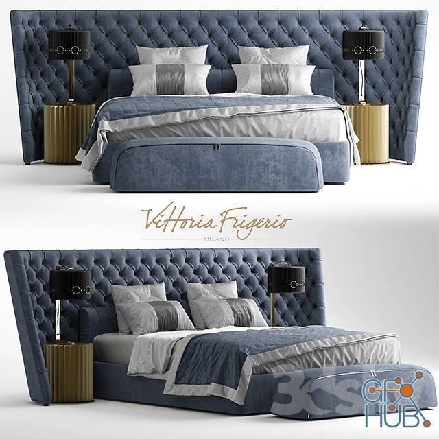0gqm 1552137206 bed vittoria frigerio medici large - مجموعه مدل سه بعدی تخت و مبلمان - 001