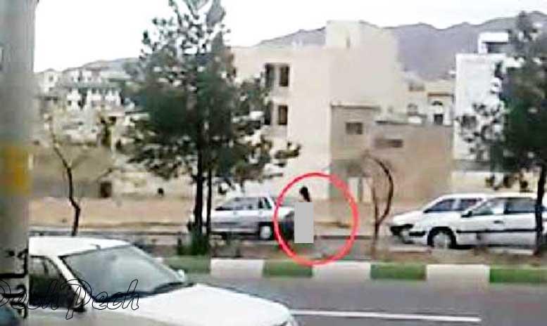 ماجرای قدمزدن دختر عریان در شیراز