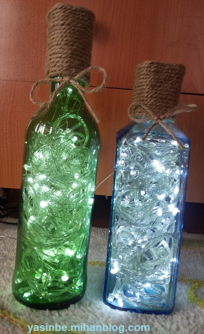 چراغ خواب های زیبا با بطری