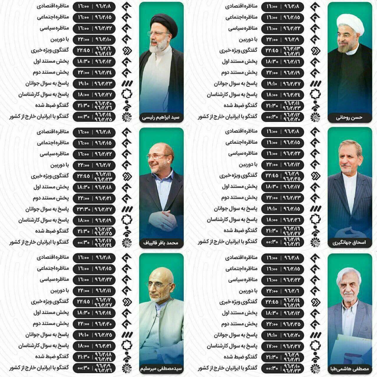 برنامه نامزدهای انتخابات 1396