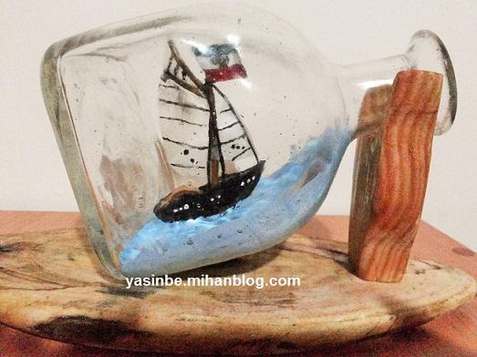 قایق در بطری