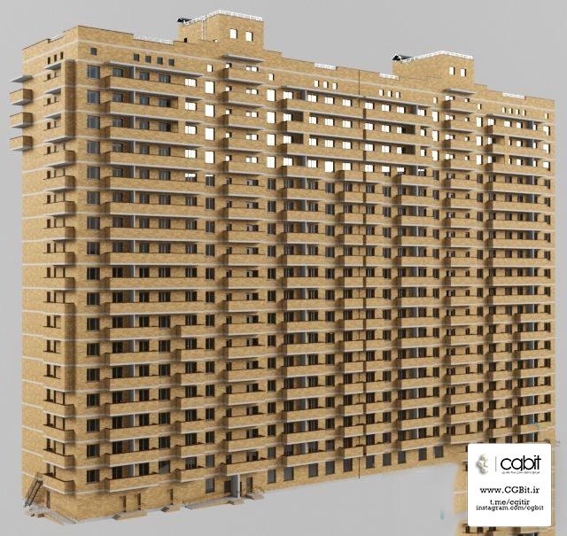 29ou 1533727321 modern apartment house - مدل سه بعدی آپارتمان مسکونی 18 طبقه 3dsMax,Vray