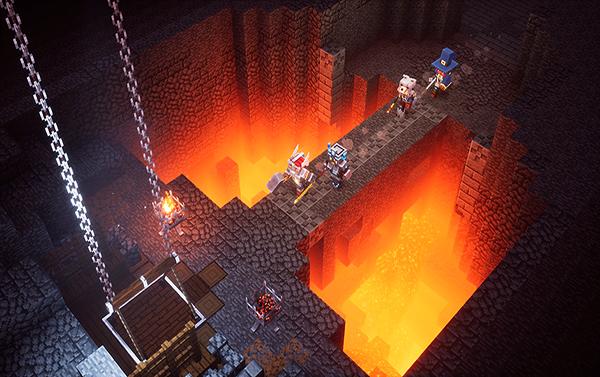 Minecraft Dungeons یک بازی بلوکی به سبک ماجراجویی اسلش و تخریب است