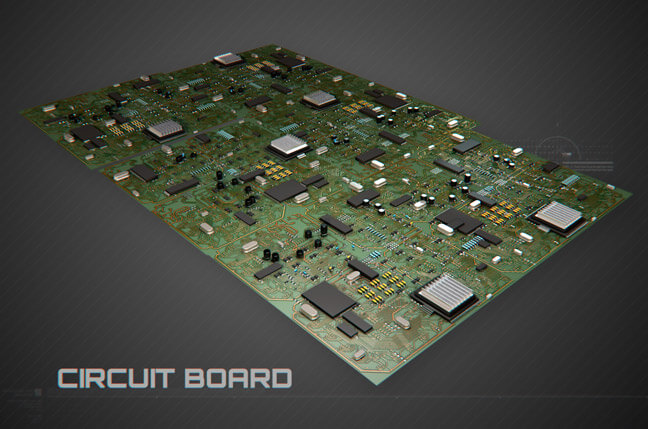 2h1j circuit board - مجموعه مدل سه بعدی تجهیزات الکترونیک و تکنولوژی C4D