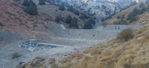 اتمام پروژه سنگی ملاتی S5 حوزه آبخیزشاهکوه بالا شهرستان گرگان از محل صندوق توسعه ملی