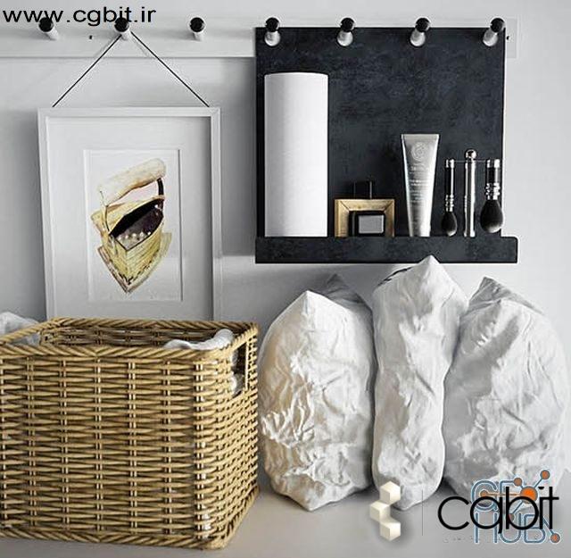 31wf 1551341055 laundry set gabrielle system 2 - مجموعه مدل سه بعدی لباسشویی و خشکشویی