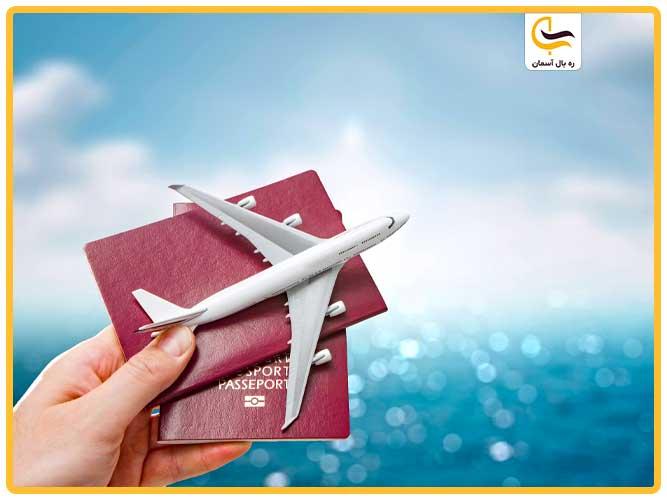 هواپیما و پاسپورت برای سفر خارجی از تهران