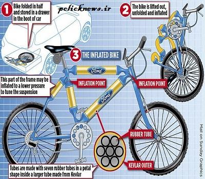 ساخت دوچرخهای با تنه بادی+عکس