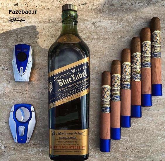 عکس شراب blue label | wine blue label | عکس شراب با سیگار اصل