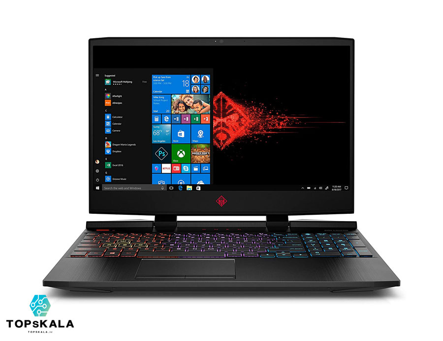 لپ تاپ استوک اچ پی مدل HP OMEN 15X - پردازنده Core i7 9750H گرافیک GTX 1660
