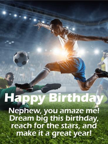 تولدت مبارک. برادرزاده ، تو مرا متحیر می کنی! این روز تولد را بزرگ ببینید ، به ستاره ها دست پیدا کنید و آن را سال خوبی کنید!