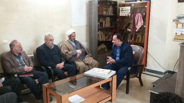دیدار رییس و کارکنان اداره اوقاف و امورخیریه آمل با رییس دادگاه دابودشت