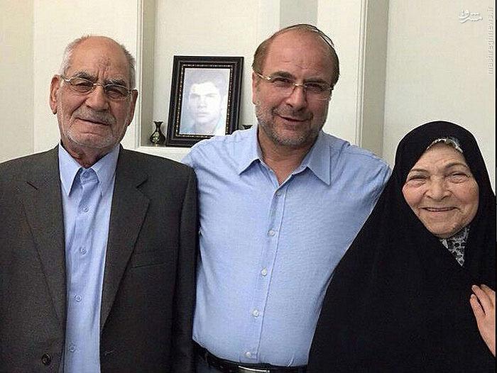 دکتر قالیباف در کنار پدر و مادرش