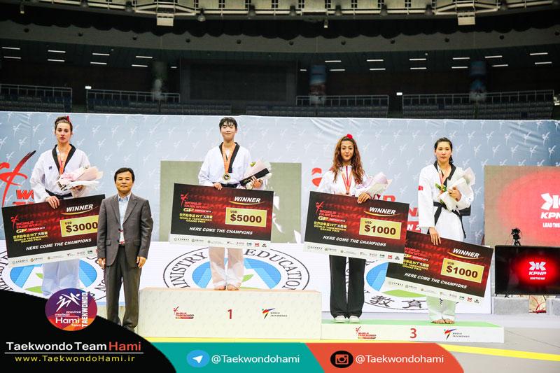 سکو مدال آوران وزن (67+kg |بانوان) گرندپری 2018 چین تایپه