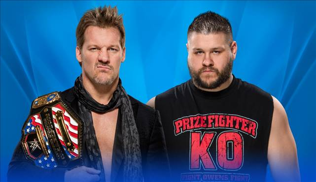 WWE United States Title Match Chris Jericho (c) vs. Kevin Owens