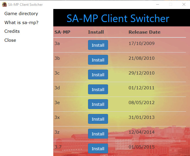 Tool/Web/Other] SA-MP Client Switcher [ c#,html,css,bootstrap