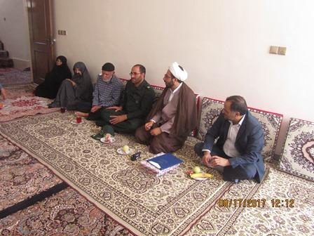 دیدار اعضای ستاد یادواره با خانواده شهید اکبر  قجاوند در اصفهان