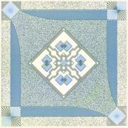 طرح نقشینه آبی - کاشی مجتمع - بازرگانی امین یزد
