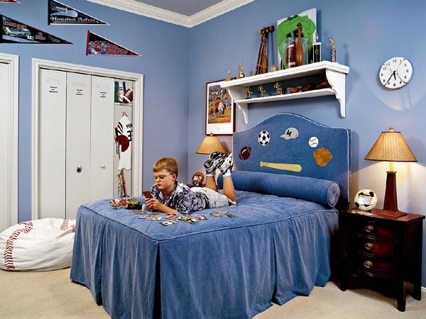 7 Inspiring Kid Room Color Options For Your Little Ones: طراحی داخلی اتاق خواب 4(پسرونه