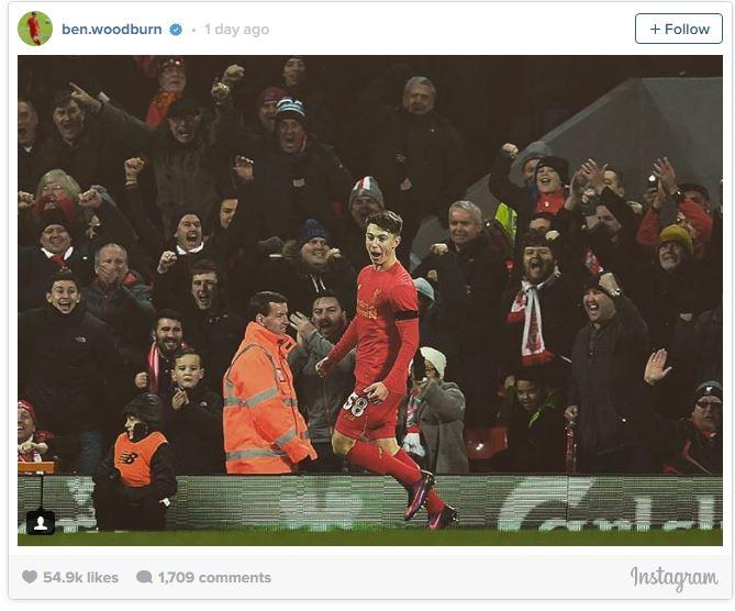 عکس : واکنش سه کلمه ای وودبرن پس از گلزنی برابر لیدز