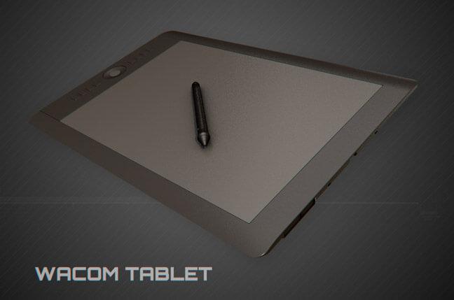 5fp8 wacom - مجموعه مدل سه بعدی تجهیزات الکترونیک و تکنولوژی C4D