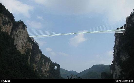 طولانیترین پل شیشهای دنیا در چین