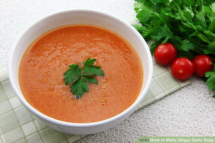 سوپ سم زدای سیر و زنجبیل