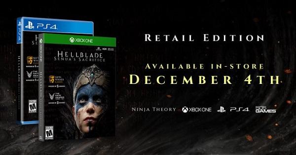 عنوان Hellblade: Senua's Sacrifice به صورت فیزیکی عرضه خواهد شد