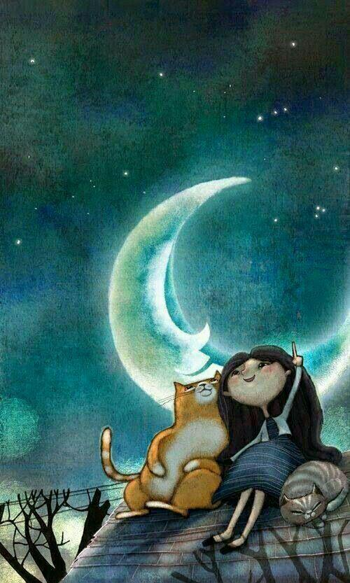 نقاشی زیبا از شب