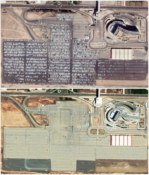 عکس وضعیت پارکینگ فرودگاه امام خمینی ، قبل و بعد از کرونا