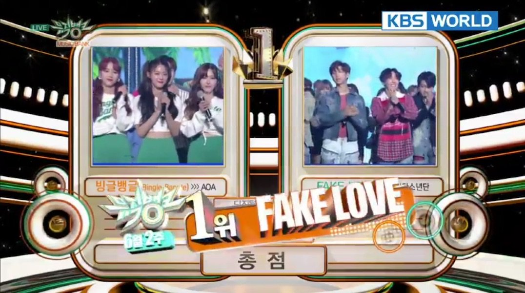 6ib8 dfb2a62abcd094a905ba7aeff4f4bf6e610ae3a6 hq - Video] BTS at KBS Music Bank [180608] #FakeLove10thWin]