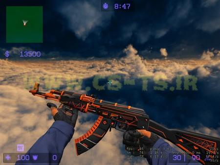 دانلود اسکین زیبای اسلحه ای ak-47_-_obstacle_with_orange_gloves برای کانتر سورس