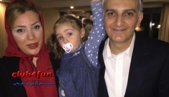 بیژن بنفشه خواه در کنار همسر و دخترش