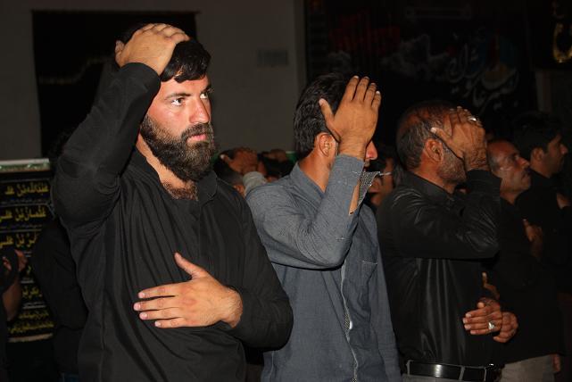 مراسم عزاداری شام غریبان حضرت اباعبدالله الحسین(ع) درآبیز