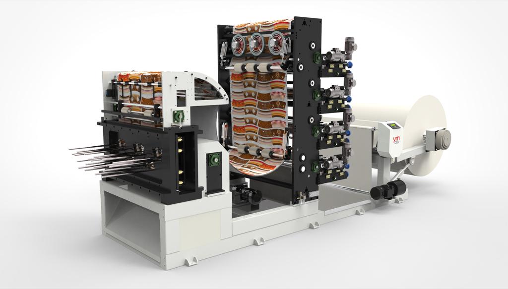 دستگاههای تولید لیوان کاغذیدستگاه لیوان کاغذی و برش BKM-1000(ترکیه)