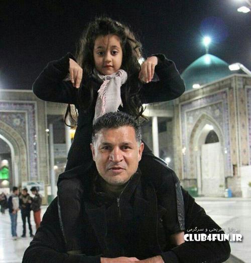جدیدترین عکس علی دایی و دخترش