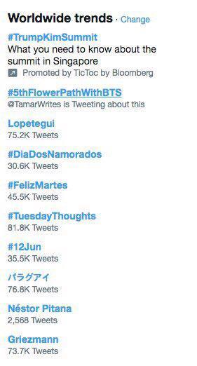 هشتگ #5thFlowerPathWithBTS توسط فن ها به مناسب ۵ سالگی گروه BTS ترند جهانی شد 🔥