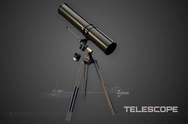 7uh6 telescope - مجموعه مدل سه بعدی تجهیزات الکترونیک و تکنولوژی C4D