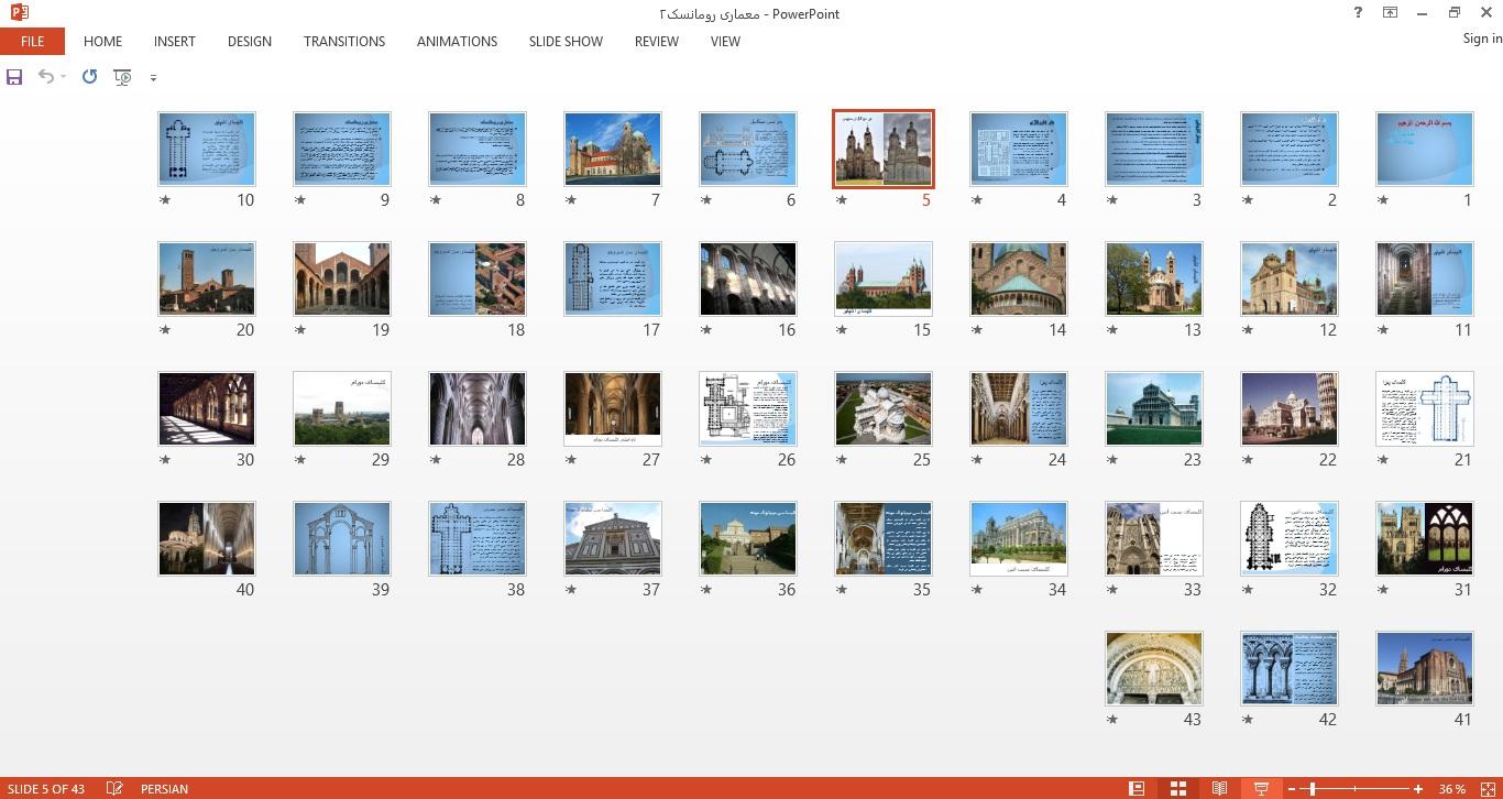 پاورپوینت معماری رومانسک