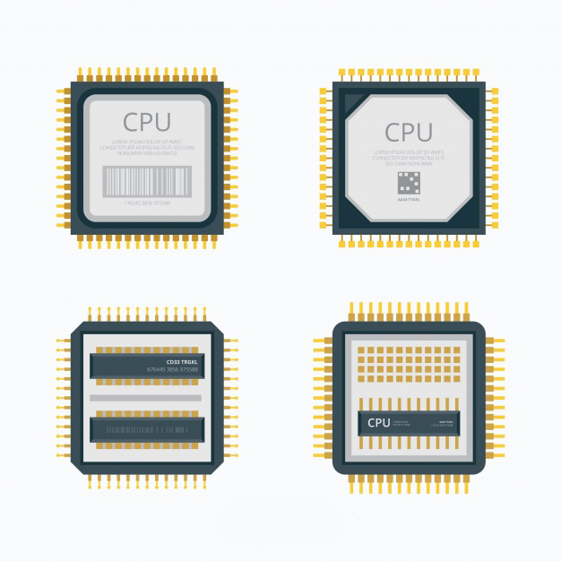 تصویری گرافیکی از CPU یا پردازنده