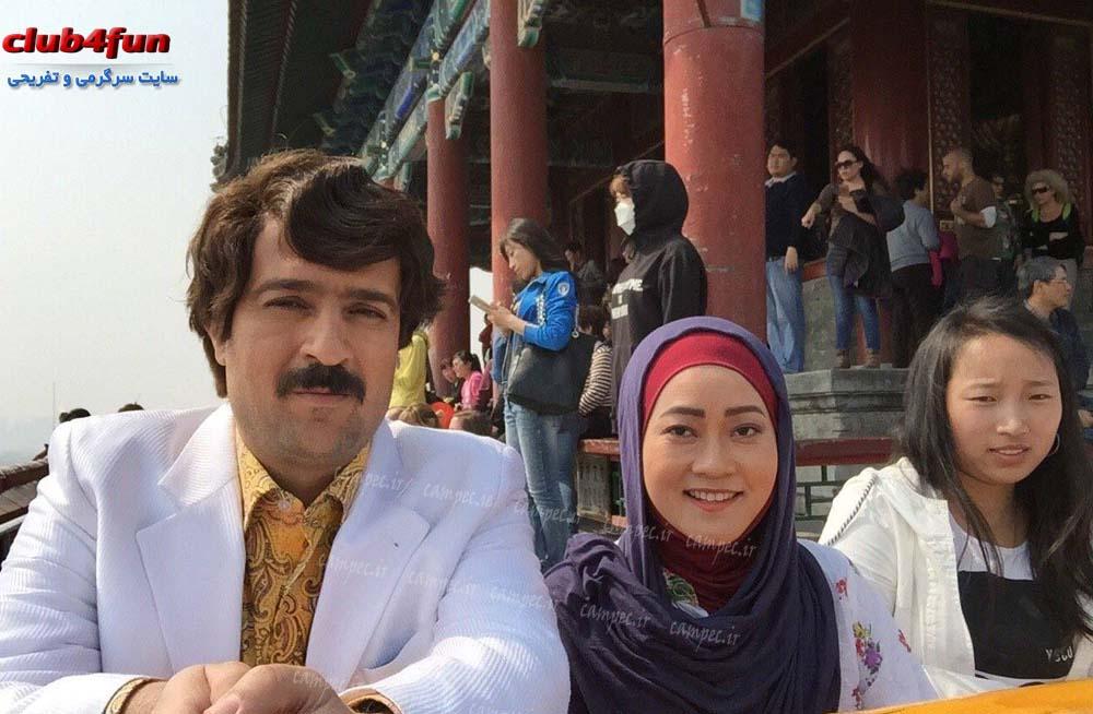 اولین عکس ها از پشت صحنه سریال پایتخت4 در چین
