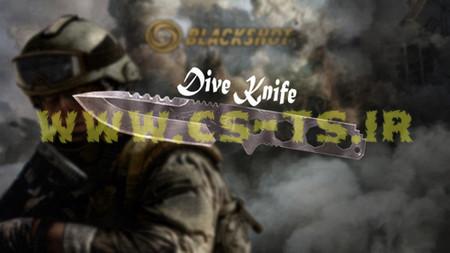 دانلود اسکین زیبای dive_knife برای کانتر1.6