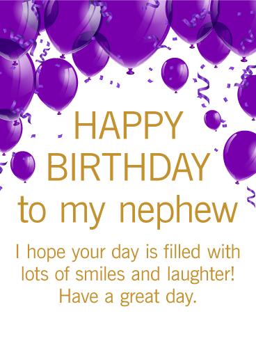 تولد برادرزاده ام مبارک. امیدوارم روز شما پر از لبخند و خنده باشد! روز خوبی داشته باشی.