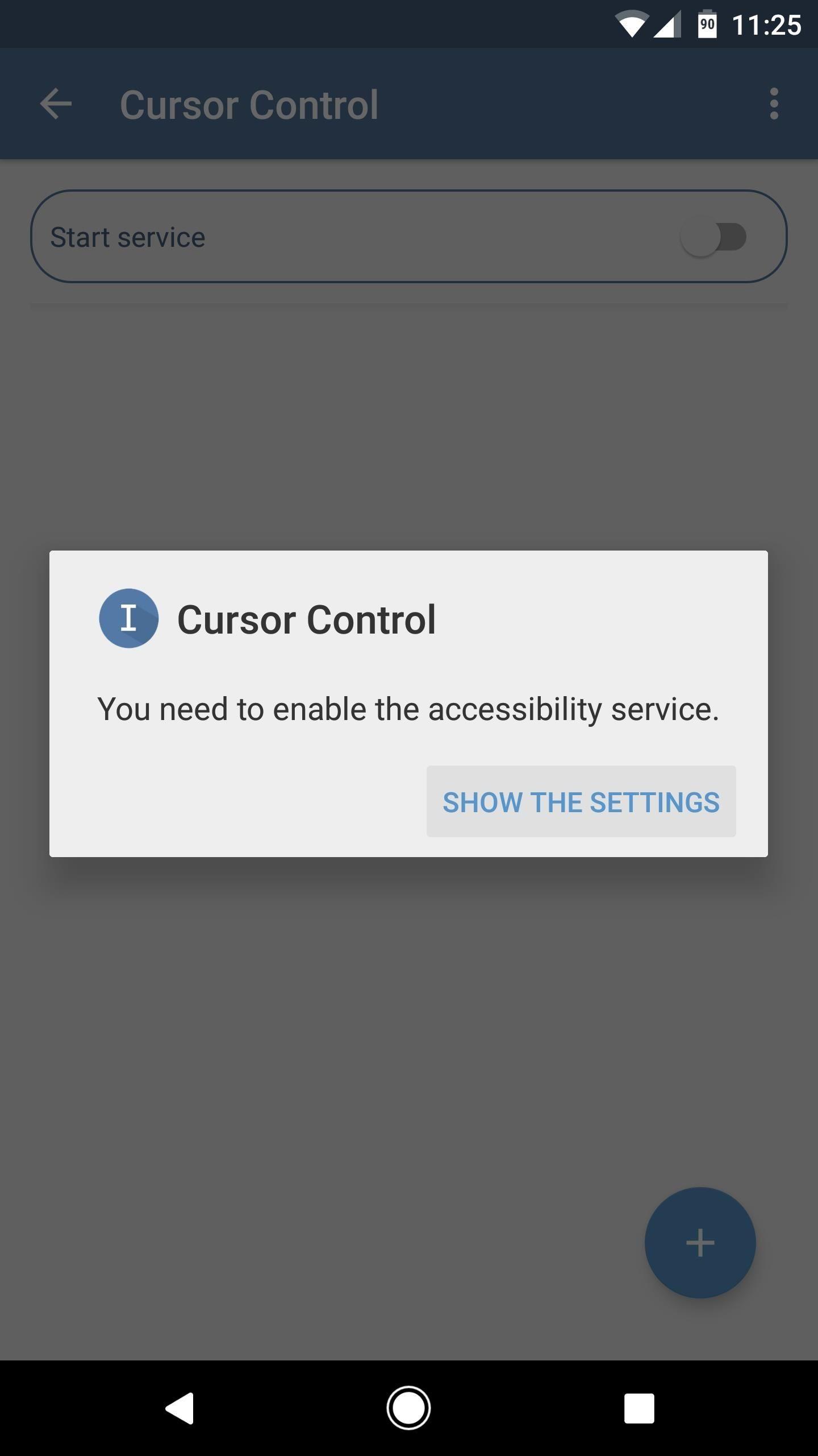 volume key cursor control