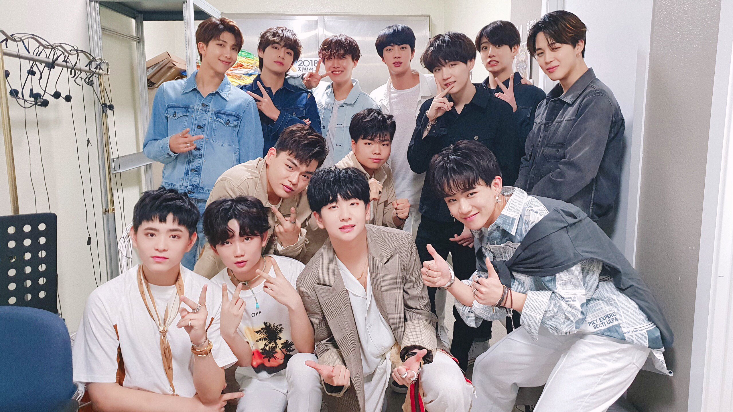 9cda demov4luwaajnpj - [Picture] BTS with boy group The East Light [180601]
