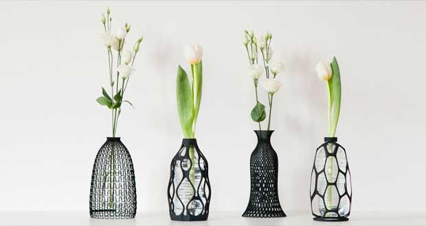 گلدان هایی سه بعدی برای استفاده مجدد از بطریهای یک بار مصرف ؟