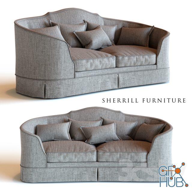 9zsw 1552046732 sherrill furniture sofa 2226 - مجموعه مدل سه بعدی تخت و مبلمان - 001