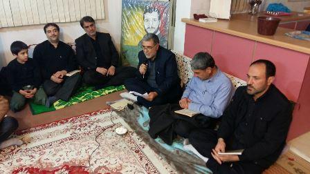 دکتر گودرزی در دیدار با خانواده شهید عباسعلی خلجی